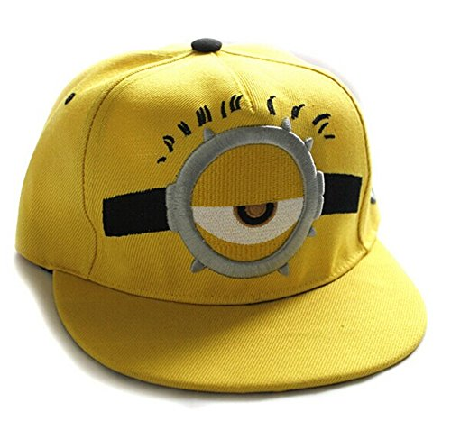 [Despicable Me 2 Minion Outdoor Adjustable Baseball Cap Snapback Hip-Hop Hat (Glass One Eyes-Adult)] (Despicable Me Glasses)