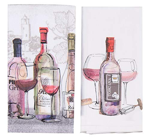 Kay Dee Designs Choice Wine Artistic Kitchen Bar Towel Bundle, Set of - Dee Designs Kay Wine