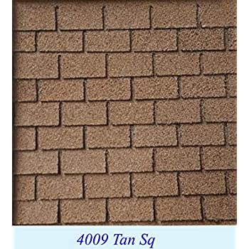 Amazon Com Dollhouse Miniature Tan Square Asphalt