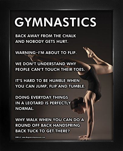 "Posters and Prints by Magnetic Impressions Framed Gymnast Pose 8"" x 10"" Sport Poster Print"