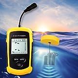 Portable in GPS Fish Finder,Depth Finder with Wired Sonar Sensor Transducer & Back Lit Display