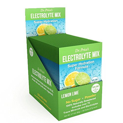 Alacer Flavored Vitamins - Electrolyte Mix Super Hydration Formula + Trace Minerals | NEW! Lemon-Lime Flavor (30 powder packets) Sports Drink Mix | Dr. Price's Vitamins | No Sugar, Non-GMO, Gluten Free & Vegan
