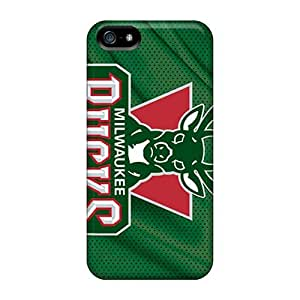 Fashionable Style Case Cover Skin For Iphone 5/5s- Milwaukee Bucks