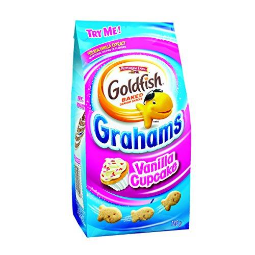 Pepperidge Farm Goldfish Vanilla Cupcake Grahams, 180g/6.34 Ounces {Imported from Canada} (Birthday Cake Goldfish)