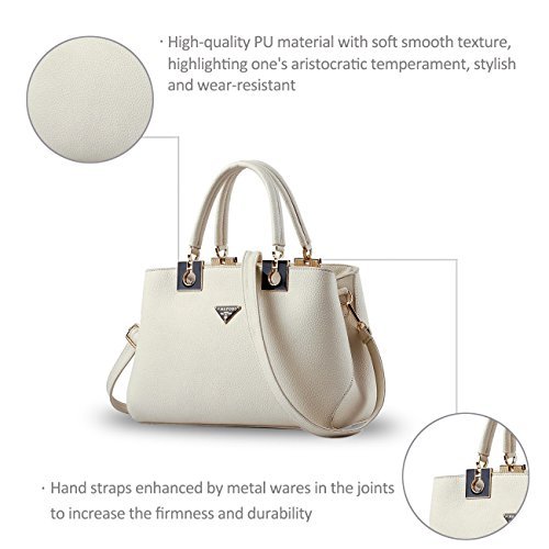 Nicole&Doris nuevas mujeres de la manera salvaje simples bolso de mano bolsa de mensajero Blanco