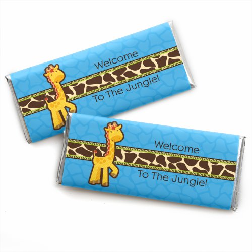 Giraffe Boy - Candy Bar Wrappers Baby Shower or Birthday Party Favors - Set of 24