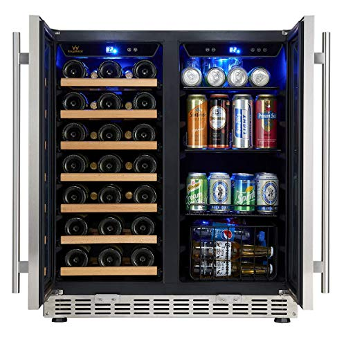 30'' Wine and Beer Cooler Combo | 30 Inch Wide Under Counter Beverage and Wine Refrigerator combination, built in or freestanding by KingsBottle (Image #2)