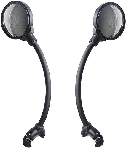 Diniiko 2 Pack Bike Rear View Mirror Adjustable Shockproof Billet Aluminum Universal Mirror