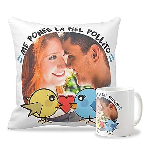 Pack Taza + cojín Personalizados con tu Foto para Enamorados ...