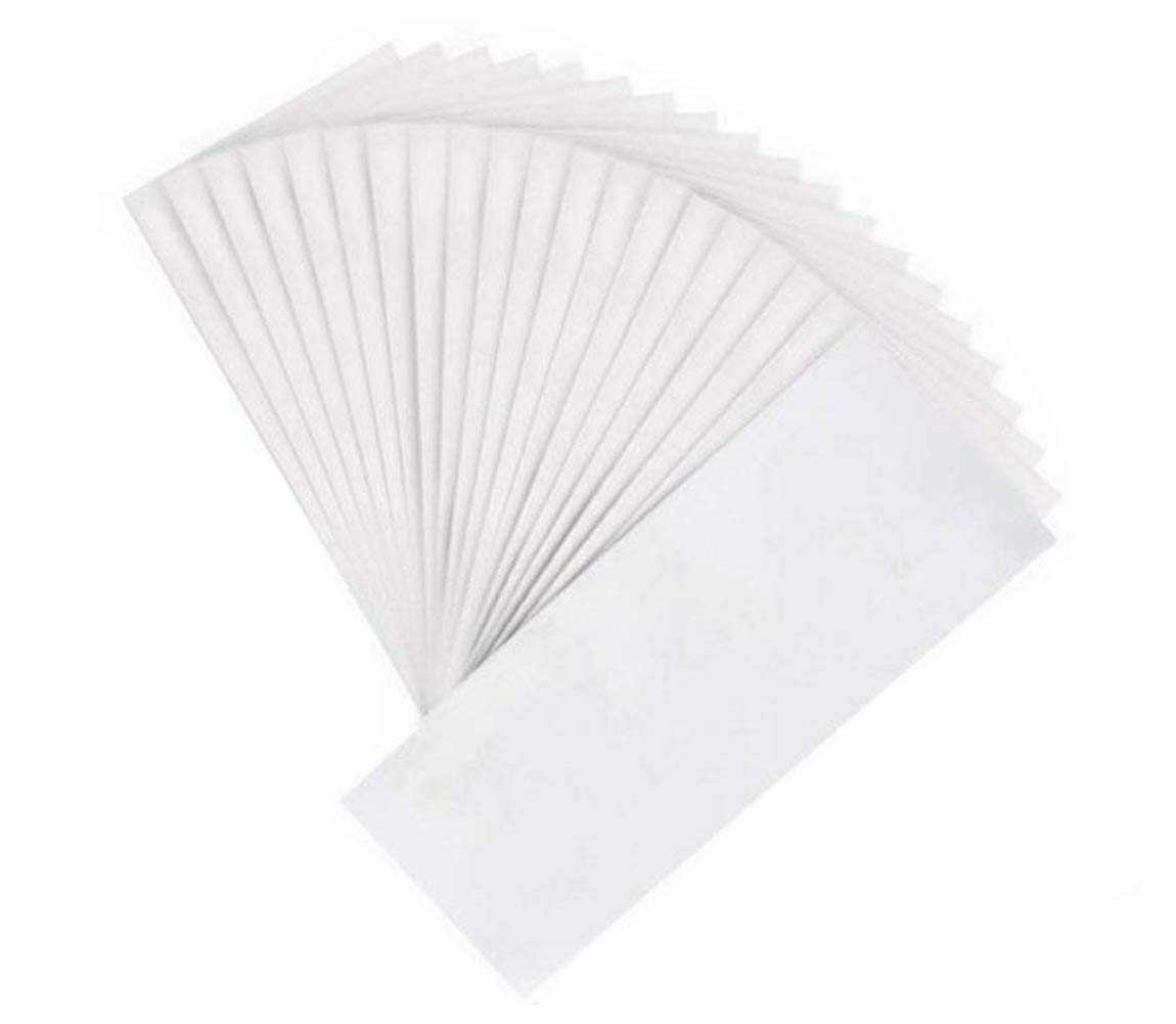 Professional Salon 100pcs Non-woven Large 3x8inch Body and Facial Wax Strips Epilator Hair Removal Wax Paper Depilatory Waxing Strip Pads Tool Epilator for Lady Women Men Ericotry