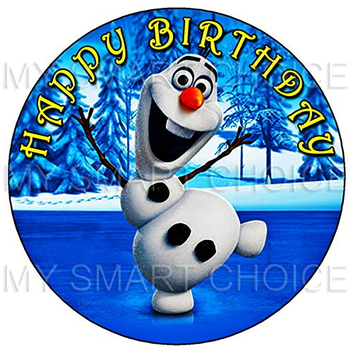7.5 Inch Edible Cake Toppers – Frozen: Olaf Themed Birthday Party Collection of Edible Cake Decorations ()