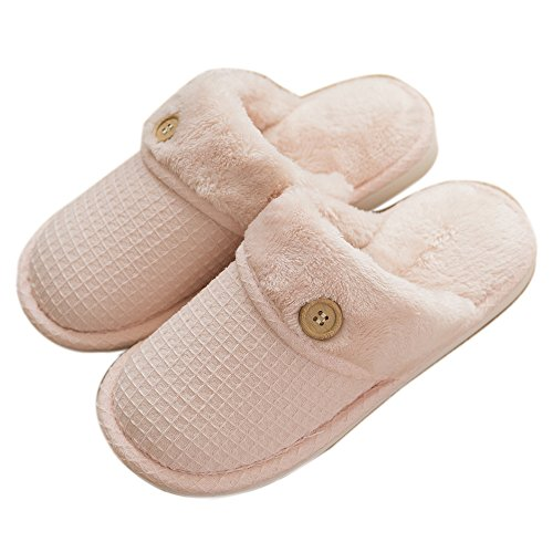 House Coral For Washable Mens Womens Slip Pink Furry Velve Slippers On Lightweight mianshe Walf Indoor Shoes 67Iw5x4q68