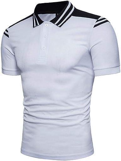 Camisa De Manga Simple Hombre Camisa para De Estilo Corta ...