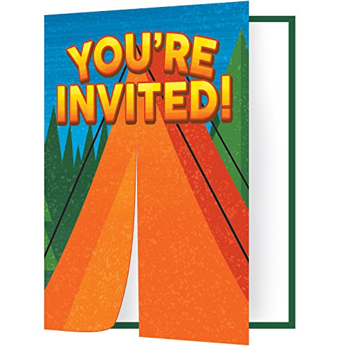Camp Out Invitations (8 ct)