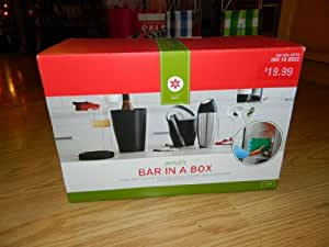 Portable Bar in a Box - bottle chiller, ice bucket, tongs, drink shaker