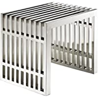 Mod Tubular Small Stainless Steel Bench , Indoor Outdoor Use
