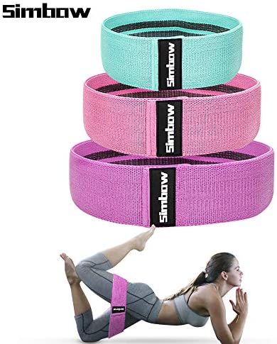 Simbow Resistance Bands, [2020 Upgrade] Elastic Workout Bands for Leg and Butt, Anti-Slip & Roll Loops Exercise Bands for Hip Squat Glute Training Sport Fitness Band, Pack of 3 1