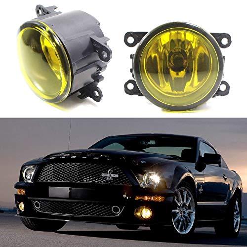 iJDMTOY Pair Selective Yellow Lens Fog Light Lamp Assemblies w/ 55W H11 Halogen Bulbs For Acura Honda Ford Nissan Subaru Suzuki etc