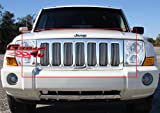 jeep grill overlay - APS J65499V Polished Grille Bolt Over for select Jeep Commander Models