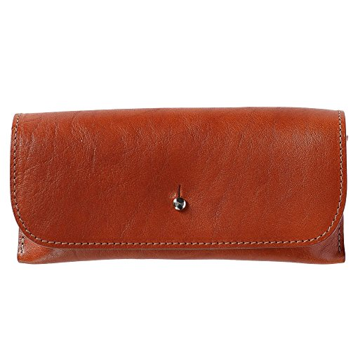 The British Belt Company Italian Leather Glasses Case with Suede Lining, (Mens Beige Italian Suede)