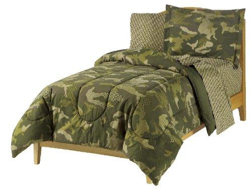 dream FACTORY Boys Army Green Desert Camo Comforter Set by everydayhomeoutlet