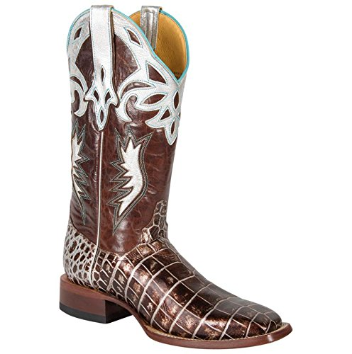 Cinch Womens Cowboy Square Sizzle Crocodile Western Boots Brown (Cinch Cowboy Boots Womens)
