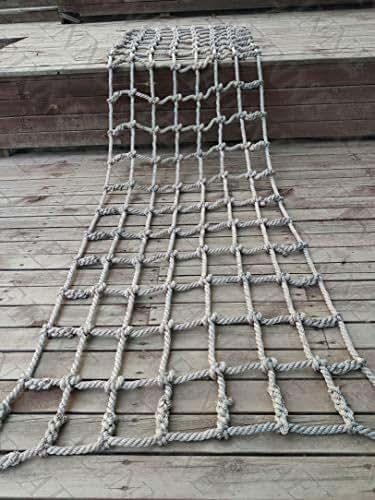 Cargo Net Climbing,Rope Netting Climbing Net Climb Kids Outdoor Nets Adults Large Playground Heavy Duty Hammock Swing Swings Playset Frame Rock Adult Play Sets Children Web Indoor Tree Treehouse Nylon