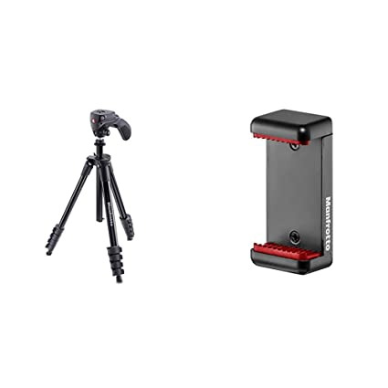 Manfrotto Compact Action - Trípode Completo, Negro + MCLAMP ...