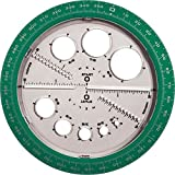 Angle/Circle Maker, Protractor/Compass, 360 Degrees, Sold as 1 Each