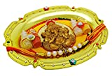 Free Size Rakhi Handmade Bracelet Brother Thread Indian Rakshabandhan Thali Set