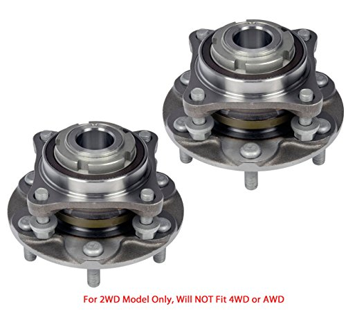 2 DTA Front Wheel Hub Bearing Full Assemblies NT5150402WG3 x2 Fits Front Left and Right Toyota 4Runner Tacoma FJ Cruiser Hilux 2WD Only, Will NOT Fit 4WD. Replaces Dorman # 950-004 ()