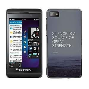 Éxito Gran Fuerza Fuente Cita- Metal de aluminio y de plástico duro Caja del teléfono - Negro - Blackberry Z10