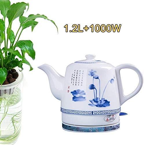 HKX Elektrische keramische accu-waterkoker theepot retro rood 1,2 l kan 1000 W water snel voor thee, koffie snel hete theemachines