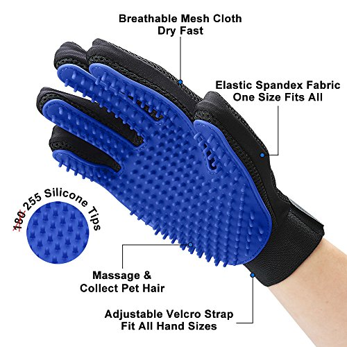 Upgrade Version Pet Grooming Glove Gentle Deshedding