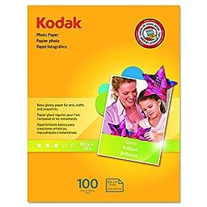 Kodak Glossy Photo Paper, 8.5 x 11 Inches, 100 Sheets per Pack (8209017)
