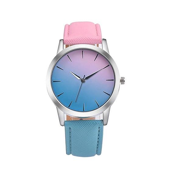 Aleación Diseño De MujeresZarlle Banda Arco Analógica Cuarzo Las Retro Reloj Pulsera Cuero Iris eIYW9DEH2