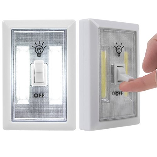 Espanolamor Battery Operated Cordless Light Using Super Bright Cob Led Wall Lighted Switch