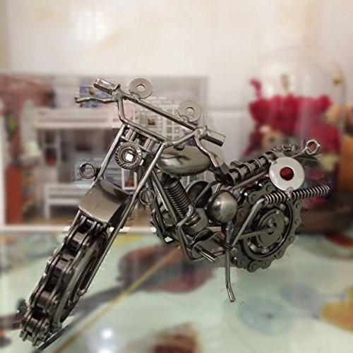 AI Creative Vintage Handcrafted Iron Motorbike Model for sale  Delivered anywhere in USA