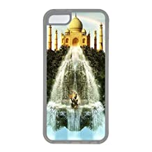 Abstract Taj Mahal Custom Apple iPhone 5C Case TPU Case Cover Compatible with iPhone 5C Transparent
