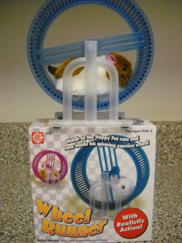 ABL Happy Hamster Pet con Runner Wheel Toy con pilas para niños