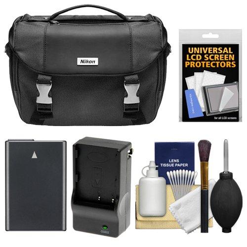 Nikon Deluxe Digital SLR Camera Case - Gadget Bag with EN-EL14 Battery + Charger + Accessory Kit for D3300, D3400, D5300, D5500, D5600 by Nikon