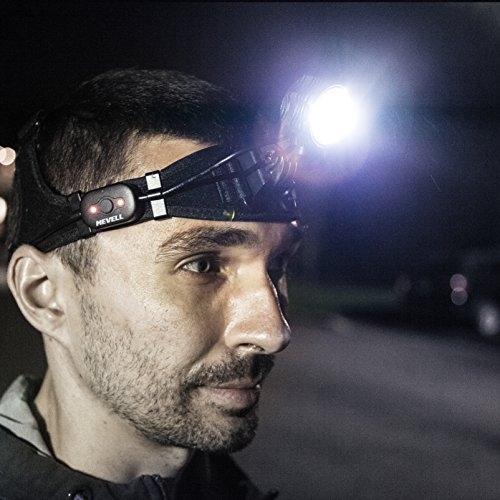 MEVELL F601 USB Rechargeable Headlamp - Super Bright 600 Lumens LED Heavy Duty Head lamp with Removable Battery, Free Carrying Case Included, Perfect for Hiking Camping Riding Fishing Hunting