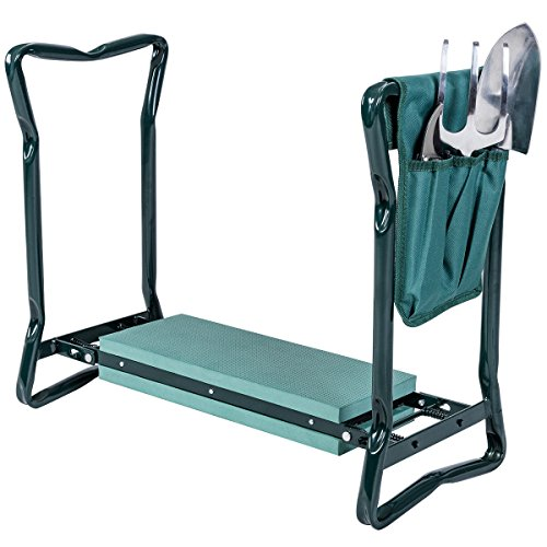Goplus Folding Garden Kneeler Bench Heavy Duty Gardener