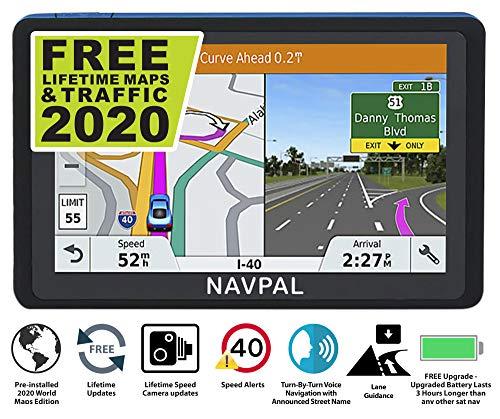 SLIMLINE SAT NAV, (7 INCH) with 2021 UK & WORLD MAPS EDITION + FREE Lifetime Updates [100% no hidden fees], GPS…