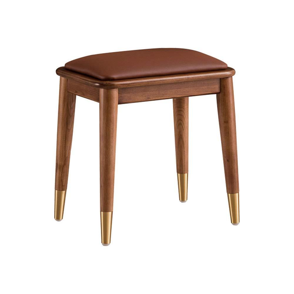 Schlafzimmerhocker Gepolsterter Sitz Vanity Hocker Makeup Dressing Vanity Bank Klavier-Sitz mit Holz Beine Schlafzimmer Dressing Chair (Farbe, Größe : 45x32x45cm)