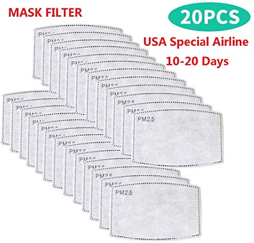 ORIFA 5 Layers Face Pretectionn Filter Replacement,20 Pcs Filter for Health