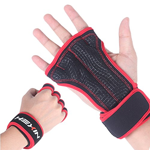 HEXIN Power Grip Half-Finger Exercise Sport Gloves Ideal For Cycling,Rowing,Weightlifting, and Cross Fit - Kids Zalora