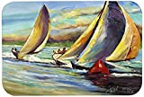 Caroline's Treasures JMK1057JCMT ''Knost Regatta Pass Christian Sailboats'' Kitchen or Bath Mat, 24'' by 36'', Multicolor