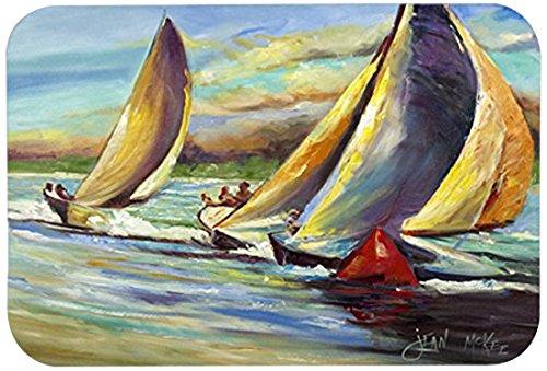 Caroline's Treasures JMK1057JCMT ''Knost Regatta Pass Christian Sailboats'' Kitchen or Bath Mat, 24'' by 36'', Multicolor by Caroline's Treasures