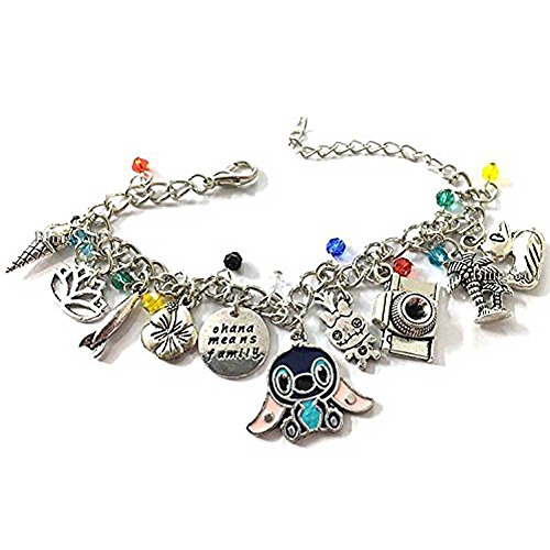 Disney Lilo And Stitch Costumes (Lilo and Stitch Cosplay Costume Jewelry - Disney Charm Bracelet Merchandise)